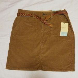 Corduroy Skirt with belt NWT